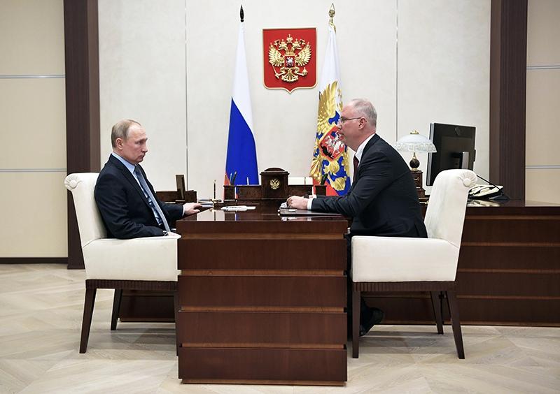 Владимир Путин и генеральный директор РФПИ Кирилл Дмитриев