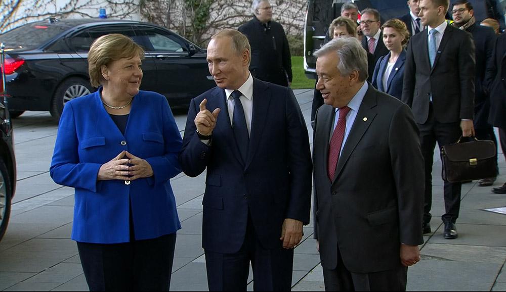 Рабочая поездка Владимира Путина в Берлин