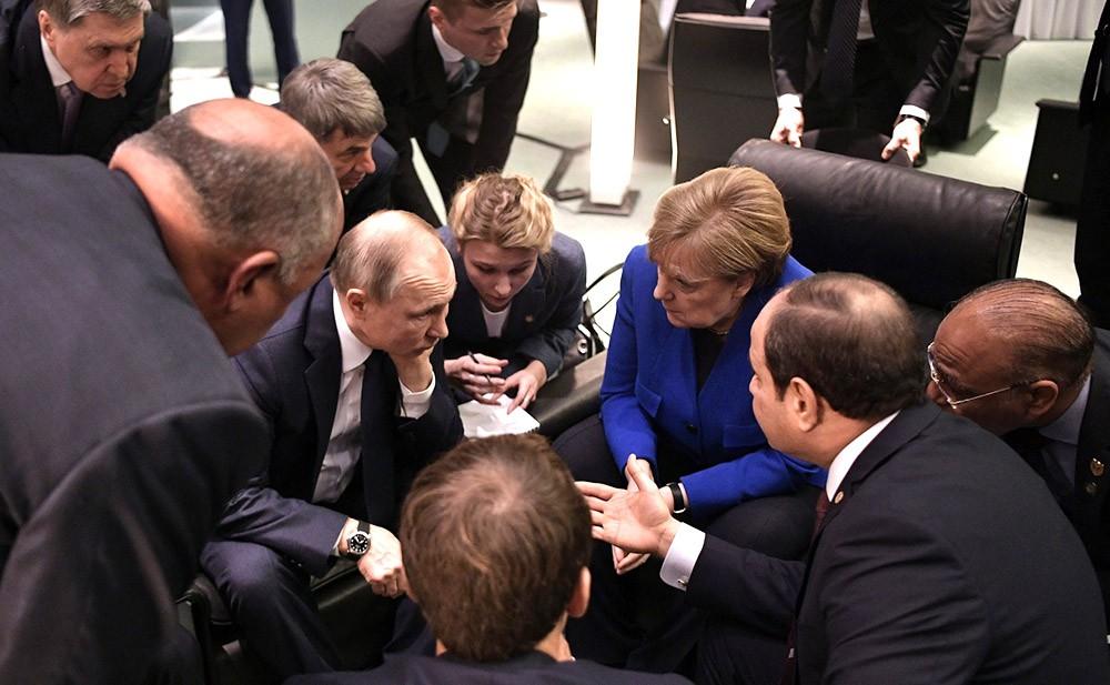 Владимир Пути и Ангела Меркель