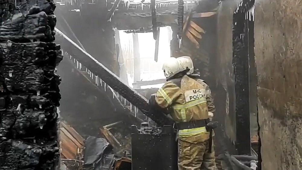 Пожар в Томской области