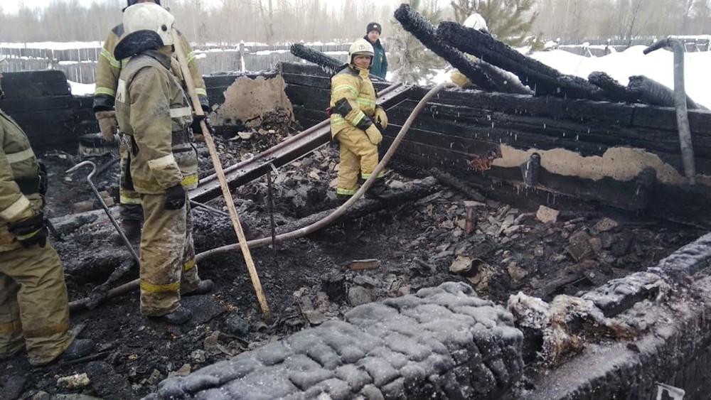 Последствия пожара в Томской области