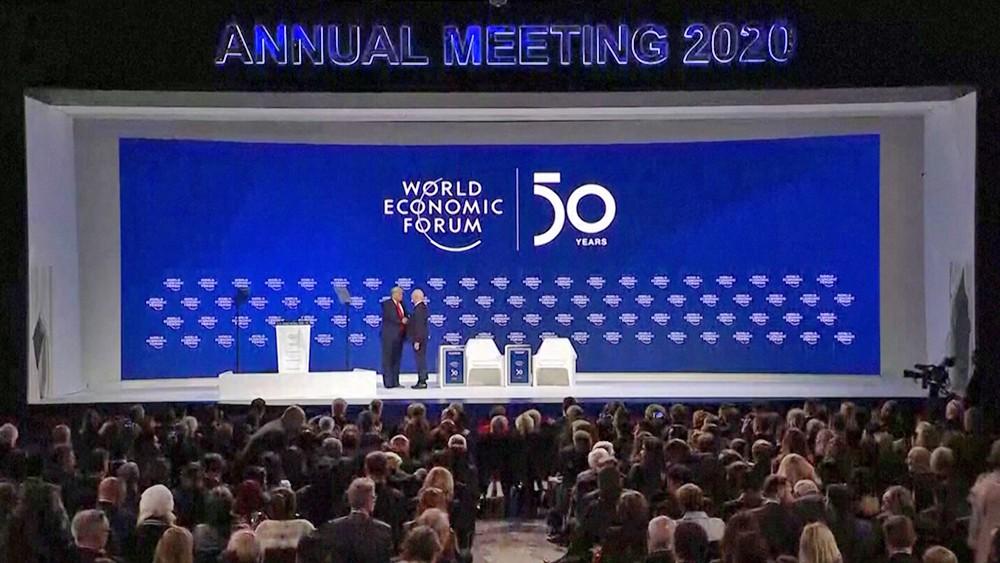 Дональд Трамп на всемирном экономическом форуме в Давосе