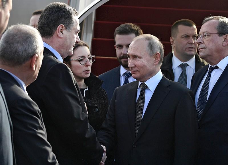 Владимир Путин и глава МИД Израиля Исраэль Кац