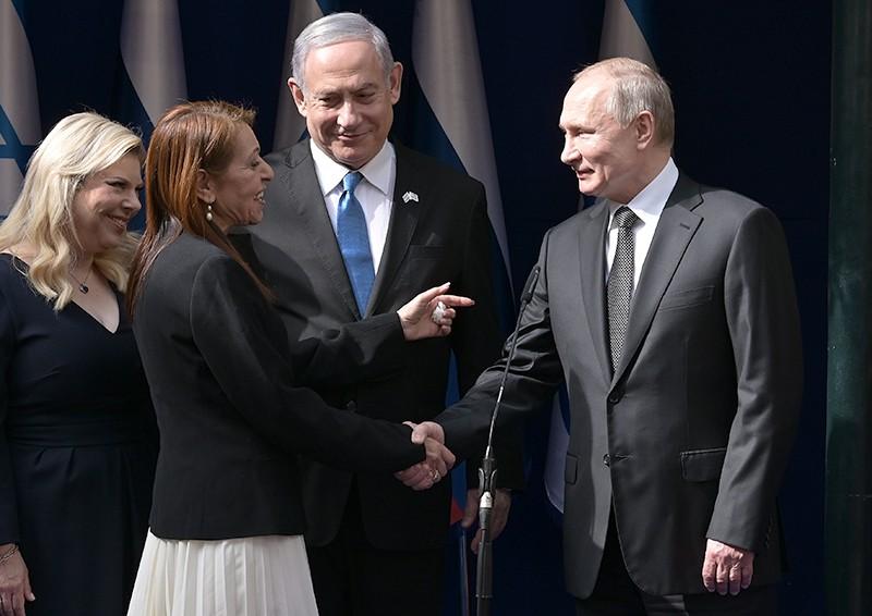 Владимир Путин и мама Наамы Иссахар
