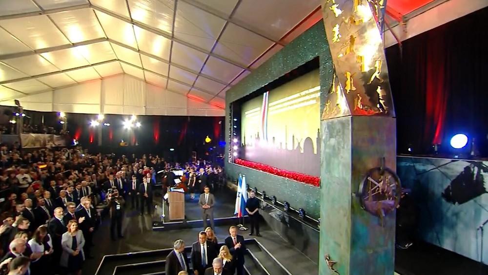 Церемония открытия памятника жителям и защитникам блокадного Ленинградадимир