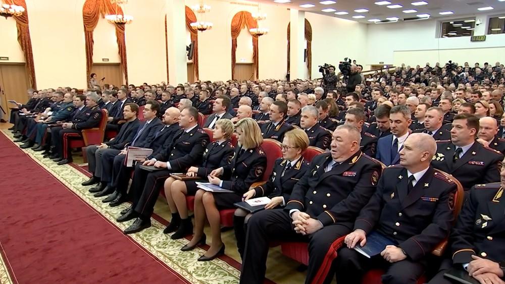 Расширенное заседание коллегии ГУ МВД России по городу Москве
