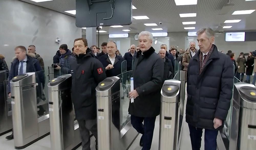 Сергей Собянин на открытии станции МЦД