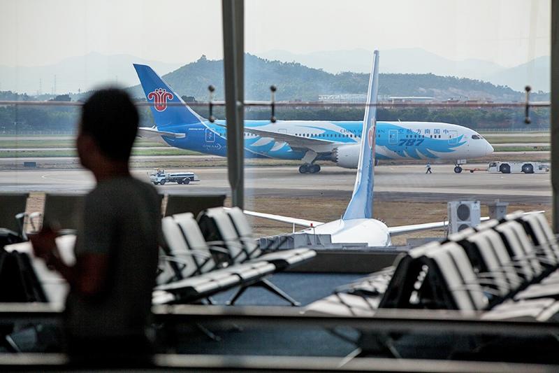 Самолет авиакомпании China Southern Airlines