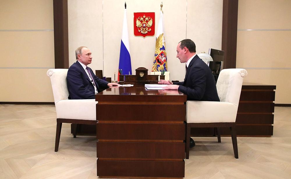Владимир Путин и Павел Ливинский