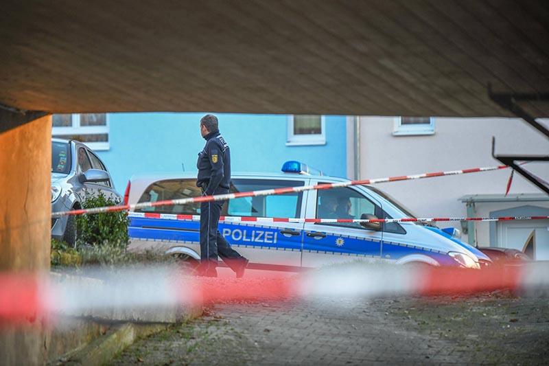 Полиция Германии на месте происшестви
