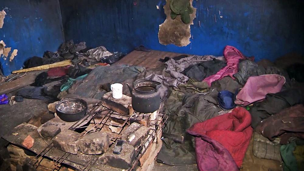 Комната в заброшенном доме в Чите