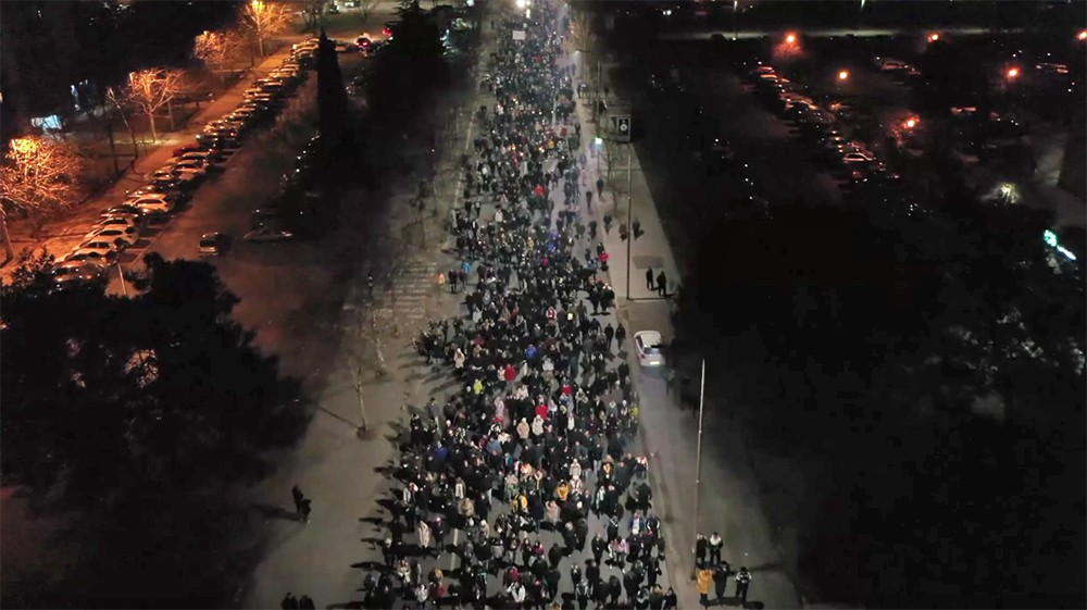 Митинг в Черногории
