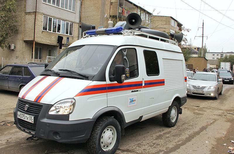 Машина МЧС на месте проишествия в Дагестане