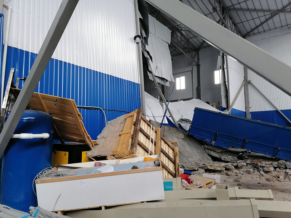 Взрыв в городе Мценске