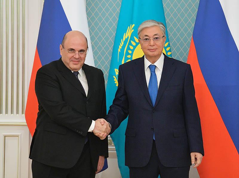Михаил Мишустин и президент Казахстана Касым-Жомарт Токаев