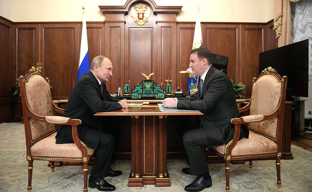 Владимир Путин и Дмитрий Патрушев