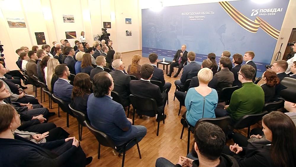 Владимир Путин в Череповеце