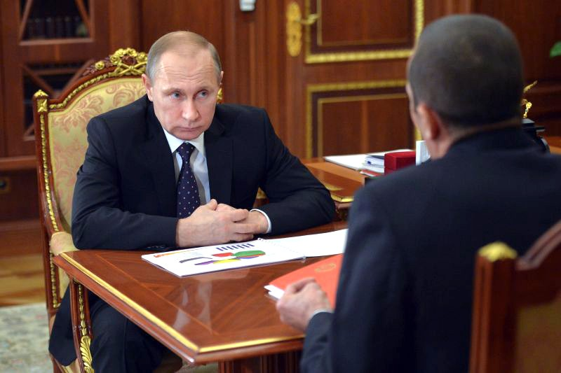 Владимир Путин и Михаил Игнатьев