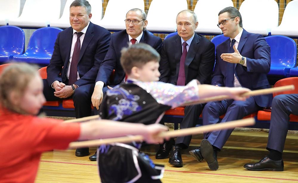Владимир Путин посетил Центр боевых искусств