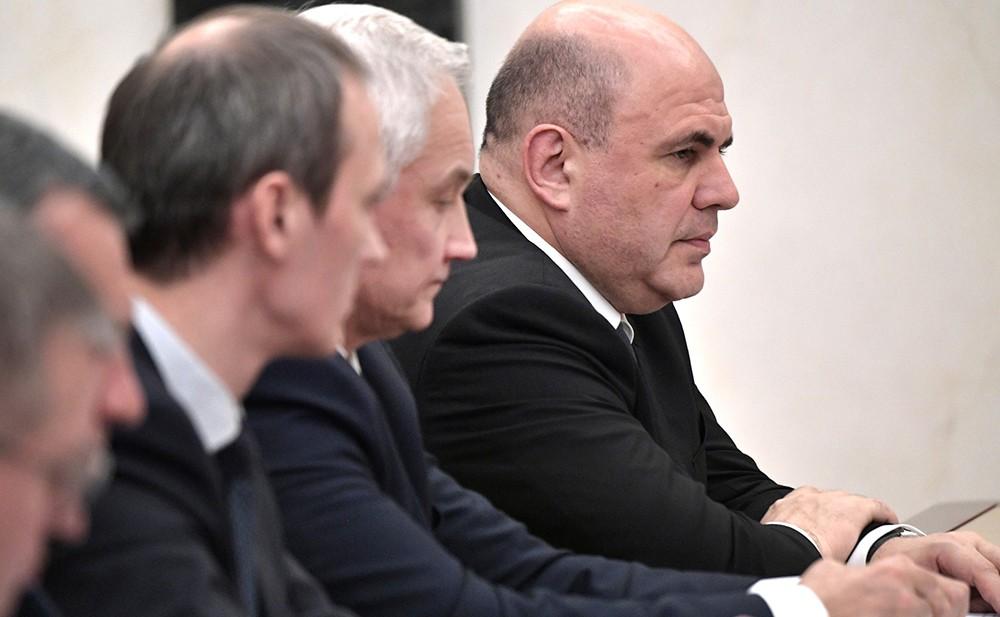 Михаил Мишустин на совещании с членами Правительства