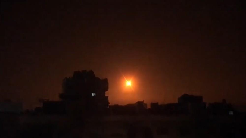 Работа ПВО Сирии