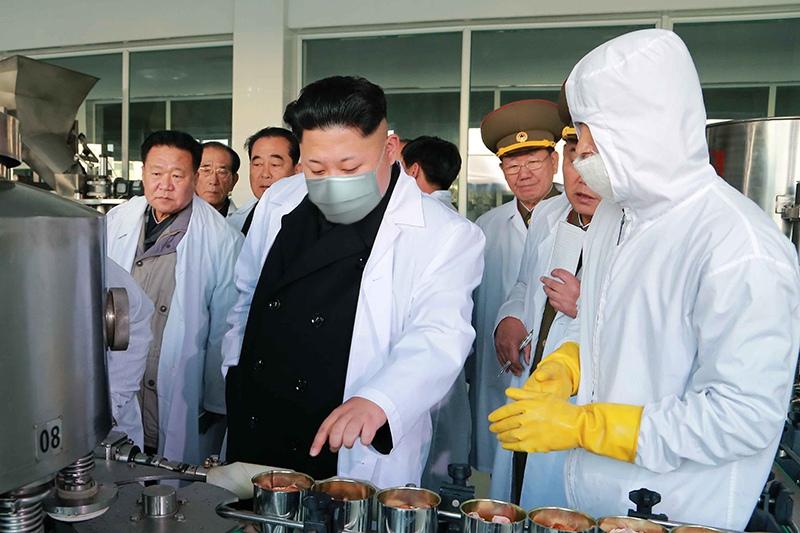 Ким Чен Ын в медицинской маске