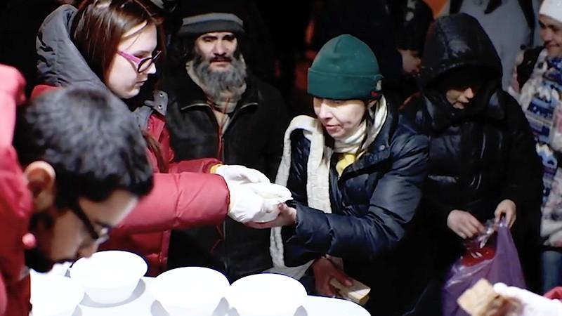 Ночлежка для бездомных