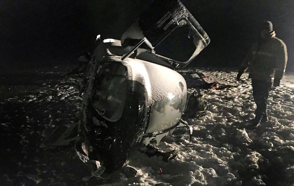 Место падения вертолета Bell-407