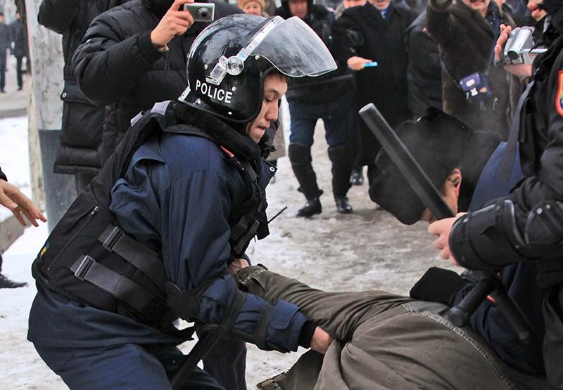Полиция Казахстана поводит задержание