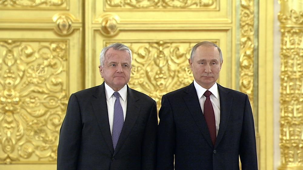 Владимир Путин и Джон Салливан