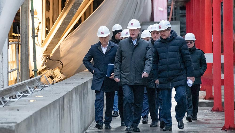 Сергей Собянин осматривает ход строительства станции метро