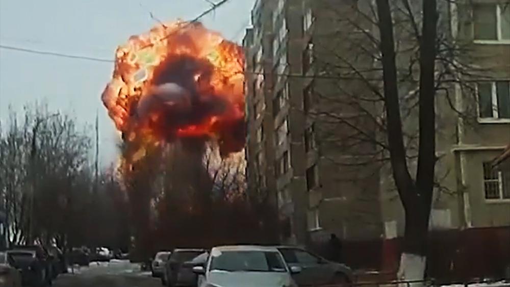 Мощный взрыв в Подольске