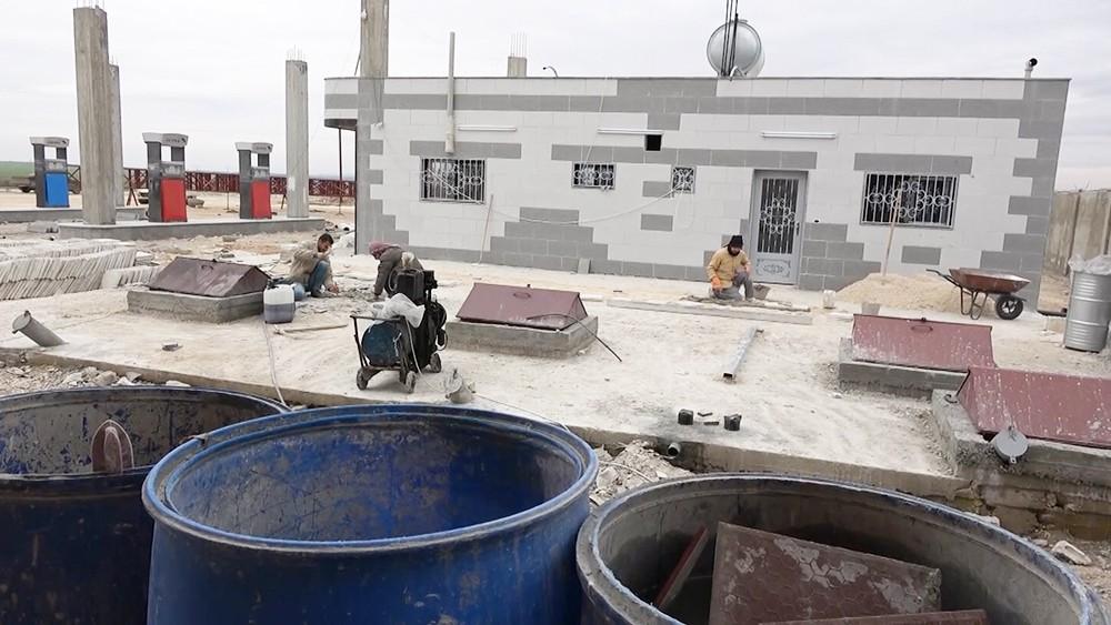 Восстановление домов в Сирии