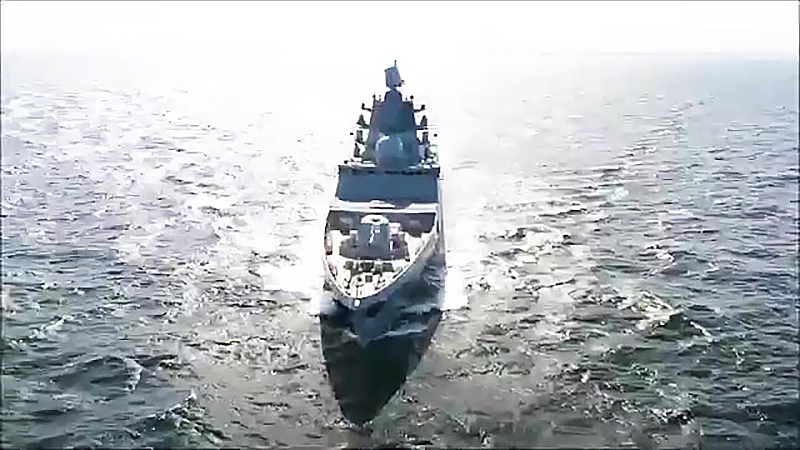 """Испытания фрегата """"Адмирал Касатонов"""" в Баренцевом море"""
