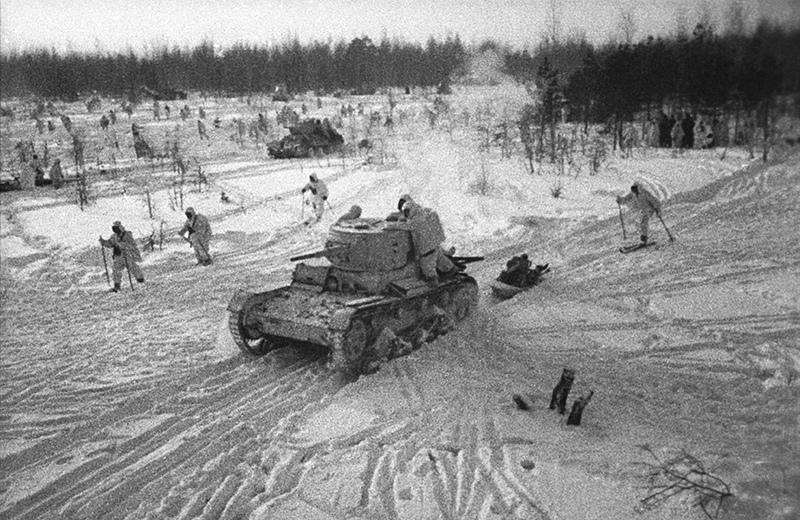 Войска РККА во время наступления
