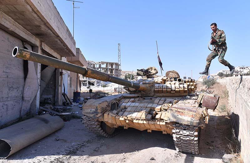Танк Т-90 сирийской армии