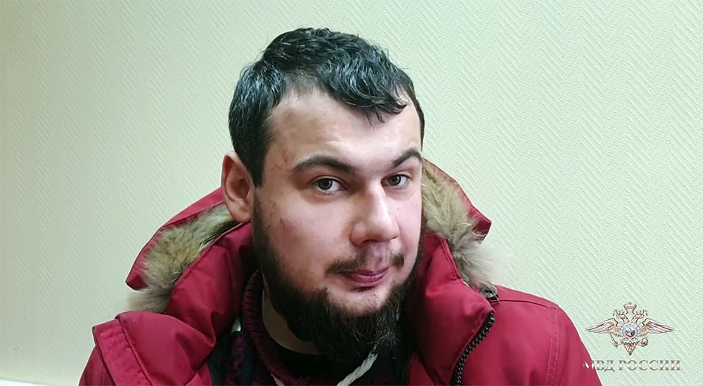 Подозреваемый в нападении на Храм Николая Чудотворца в Покровском в Москве