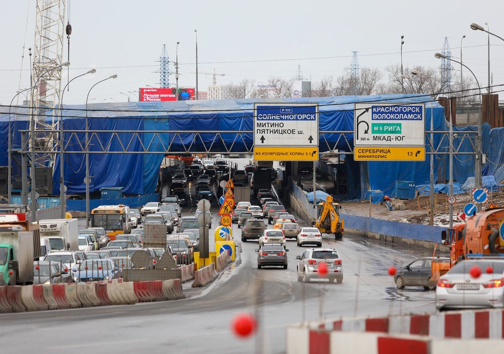 Строительство транспортной развязки на пересечении МКАД и Волоколамского шоссе