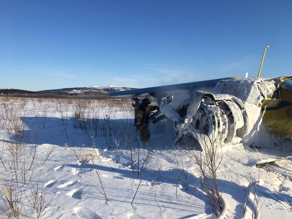 Место крушения самолета  Ан-2