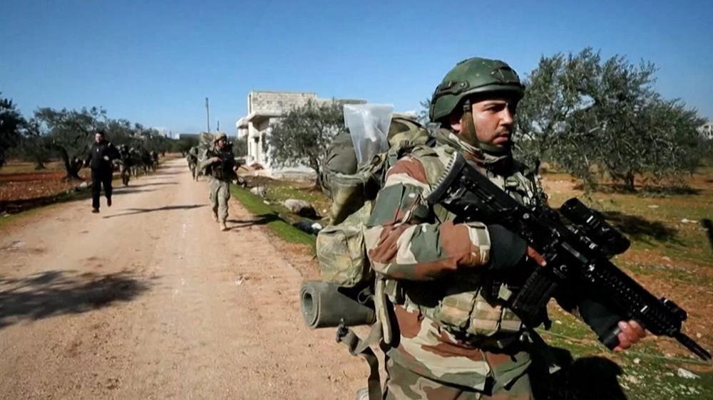 Турецкие военные на территории Сирии
