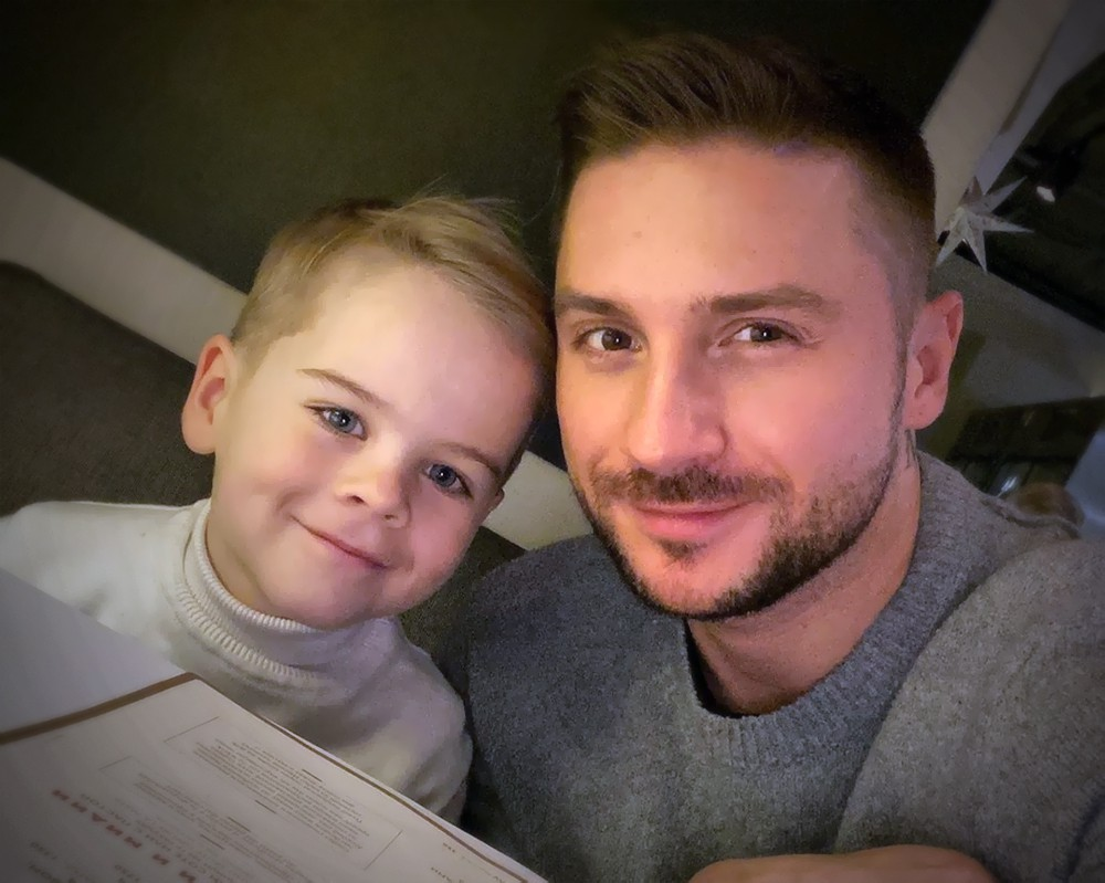 Сергея Лазарева с сыном