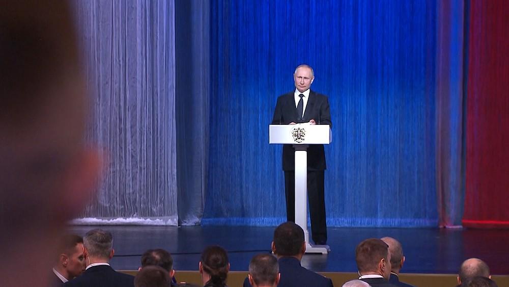 Владимир Путин на торжественном концерте в Кремле