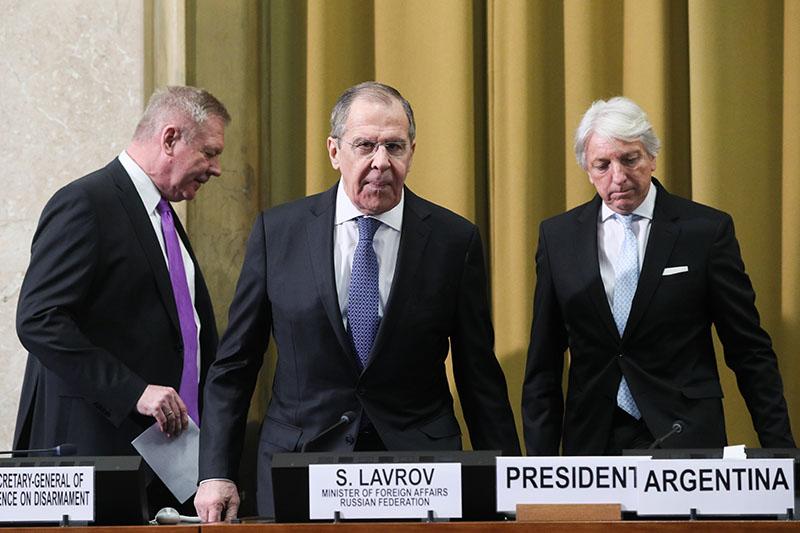 Визит главы МИД России Сергея Лаврова в Щвейцарию