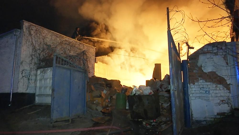 Пожар в Красногорске