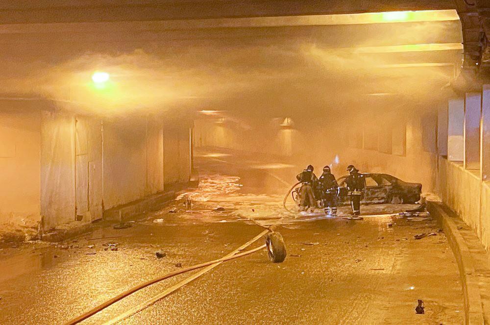 ДТП в тоннеле