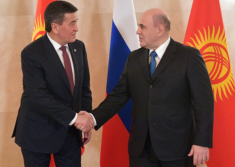 Михаил Мишустин и президент Киргизии Сооронбай Жээнбеков