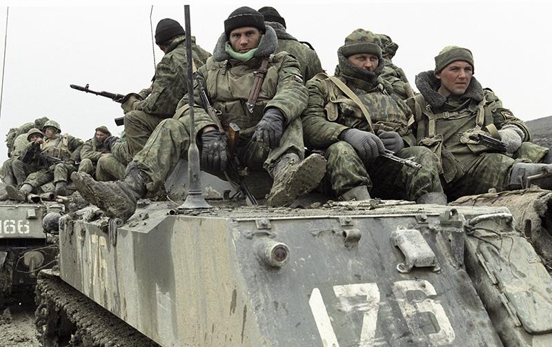 Бойцы группировки федеральных сил на Северном Кавказе