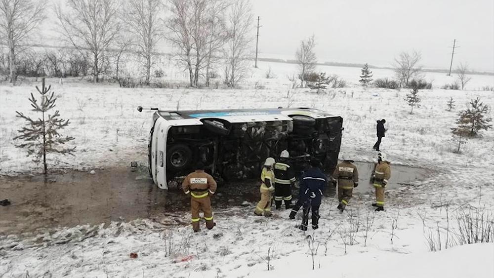 ДТП с участием автобуса под Ульяновском