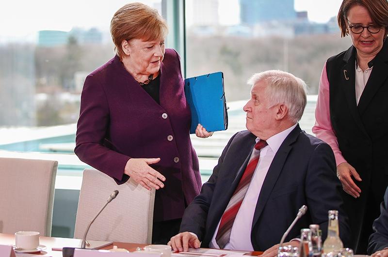 Ангела Меркель и Хорст Зеехофер