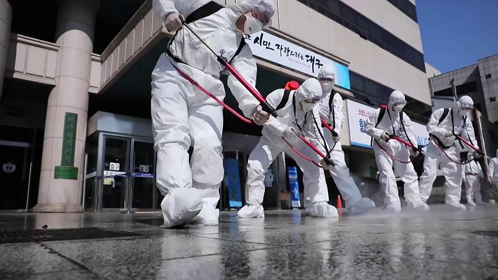 Санитарная обработка против распространения вируса